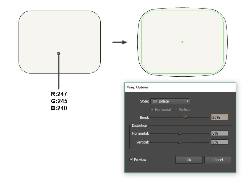 creating the TV shape