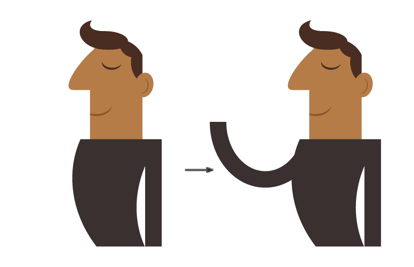 how to create the arms