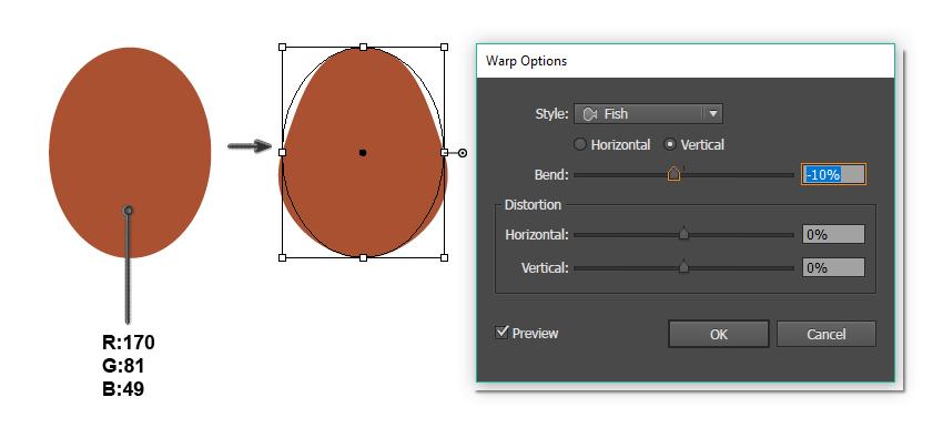 how to create the head shape