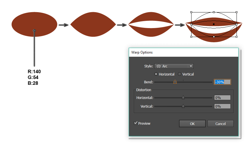 how to create the mouth