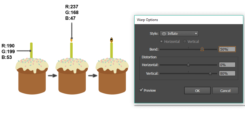 how to create the candle