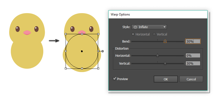 how to create the chicks body