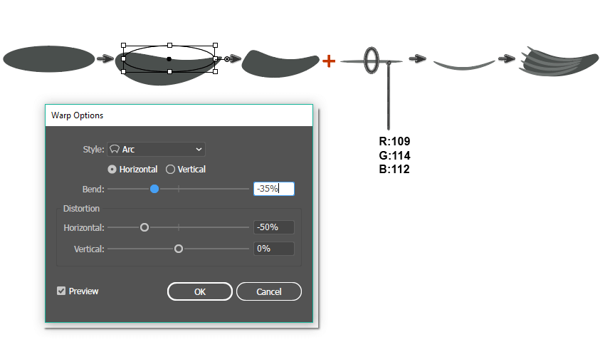how to create the tail