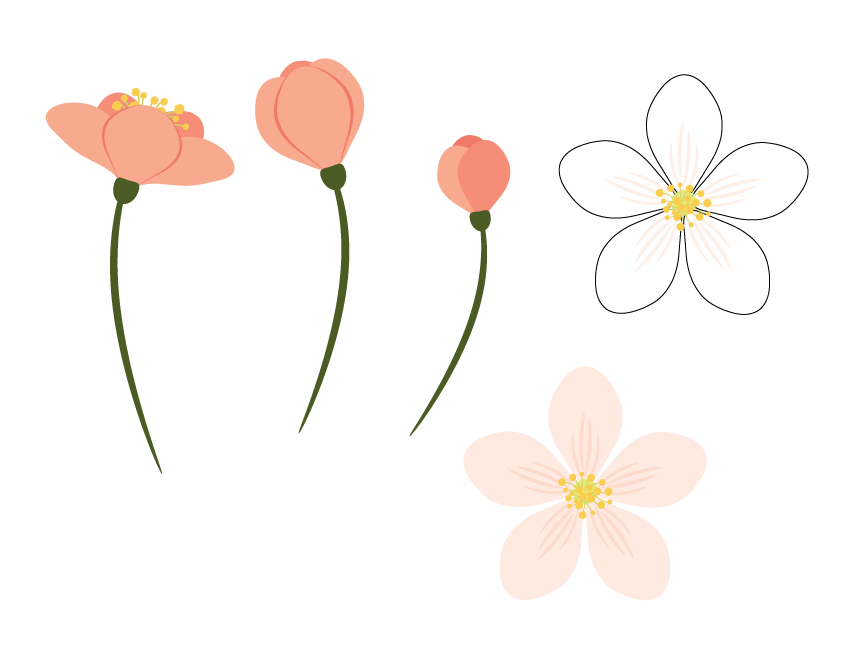 all flowers together