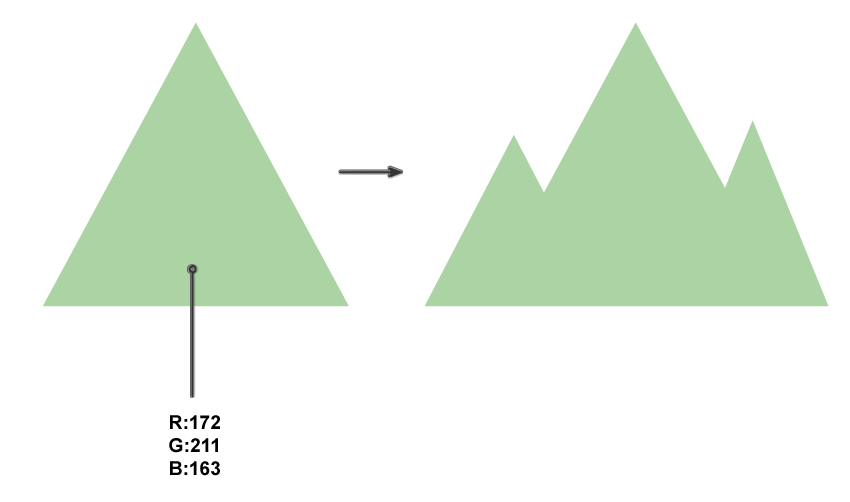 how to create the mountains