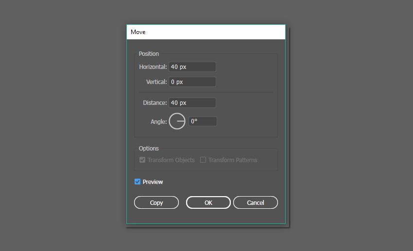 how to move the dot horizontally