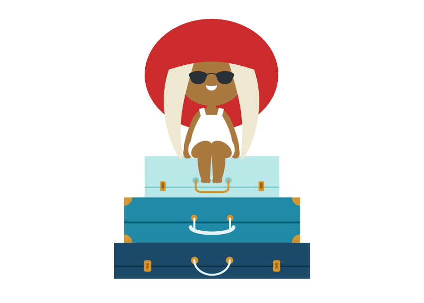 how to place the third suitcase