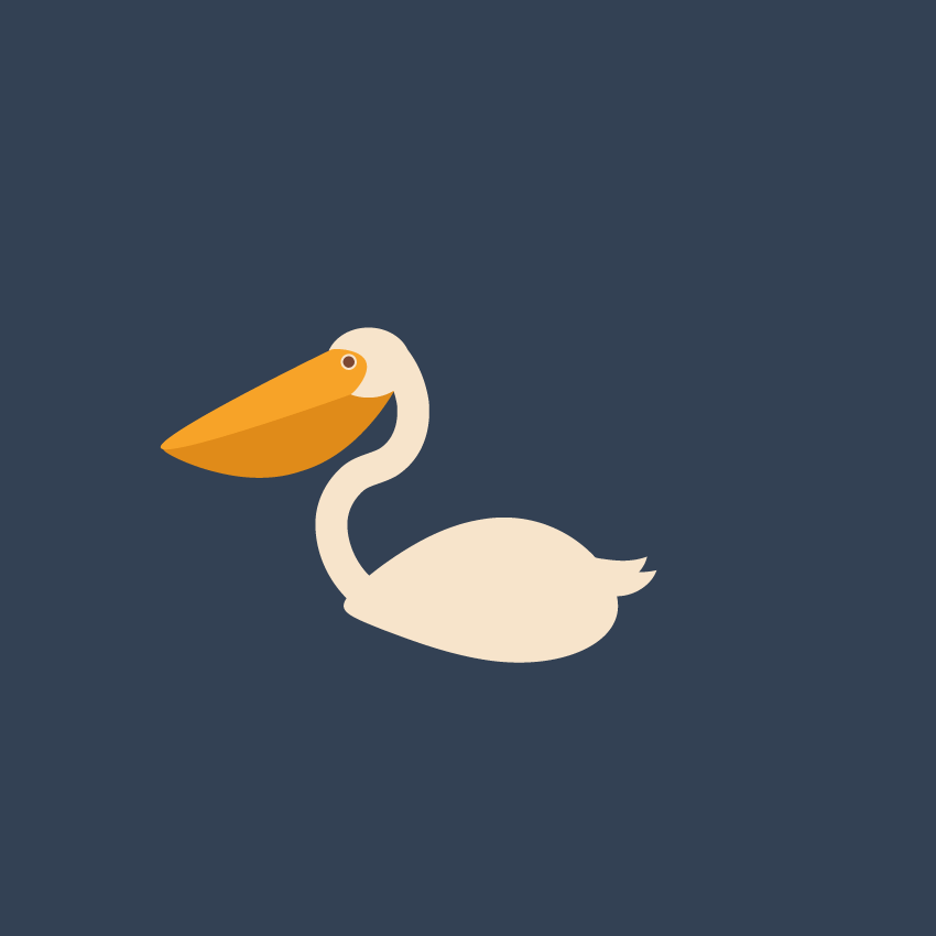 how to place the pelican on the background