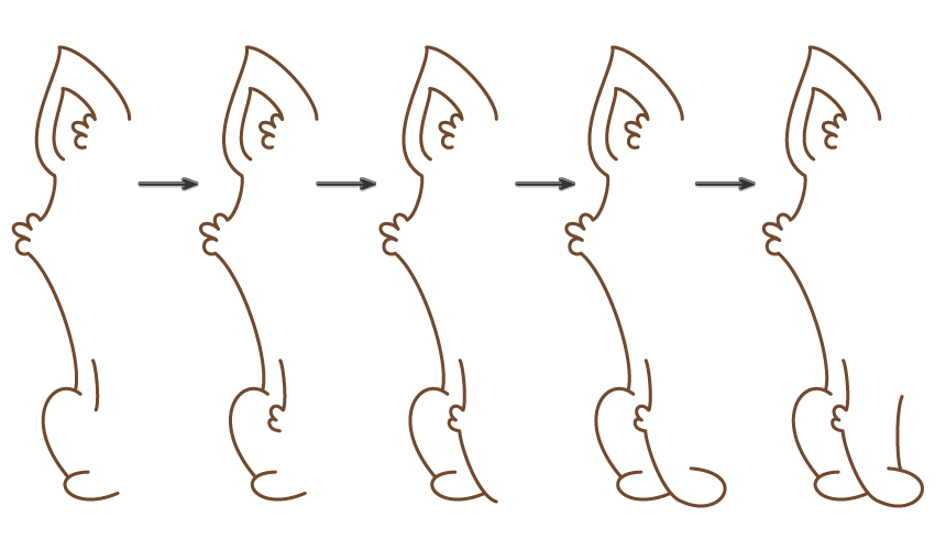 how to draw the left front leg