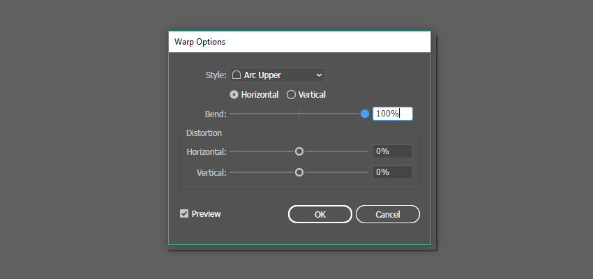 Arc Upper effect options