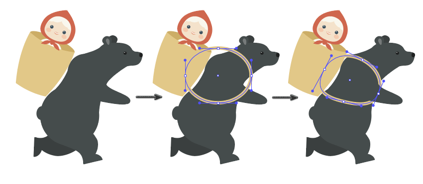 how to place Masha in the basket on the Bears back