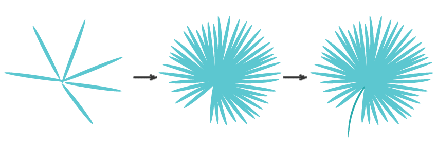 how to draw tropical leaf using the illustrator brush strokes