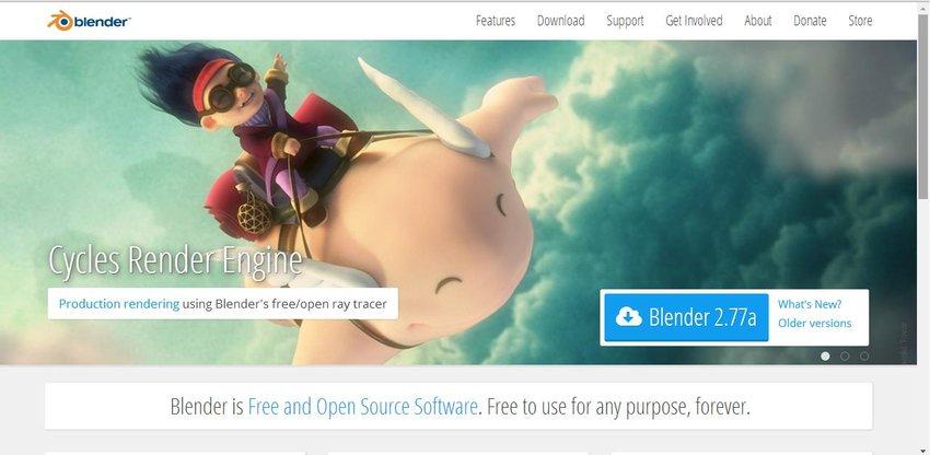 Downloading Blender