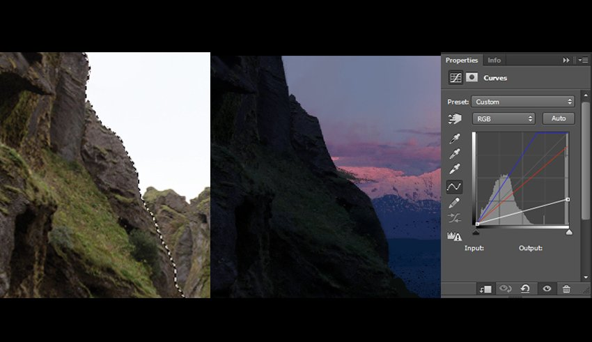 Using curves to correct colour and brightness