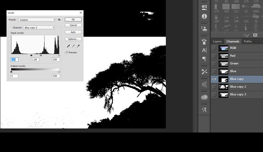 Using Channels to create a selection of the tree
