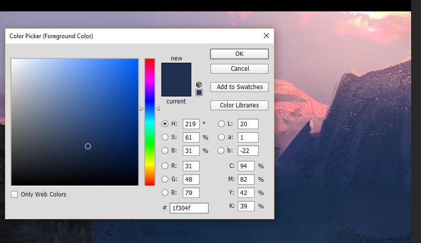 Colour picking