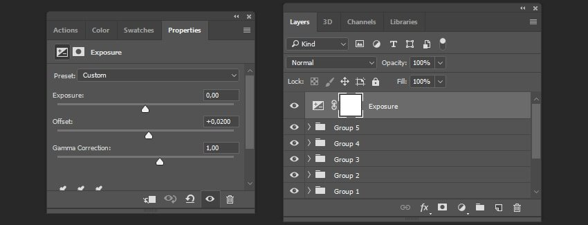 Creating adjustment layer