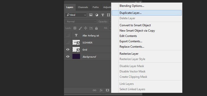 Create a duplicate of the layer