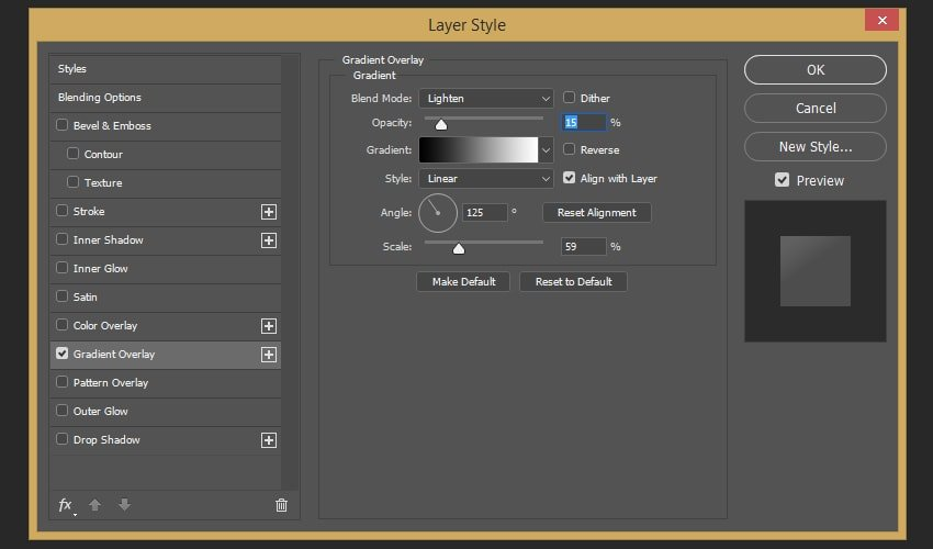 Creating the gradient overlay