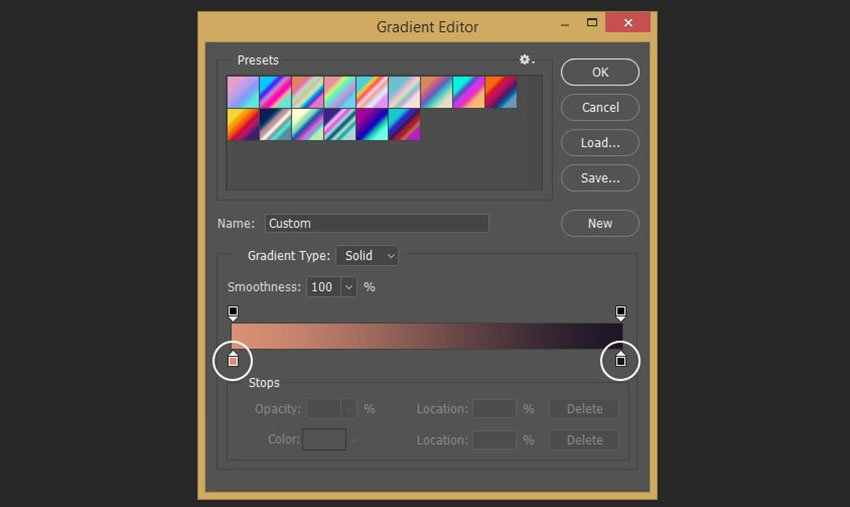Creating the gradient