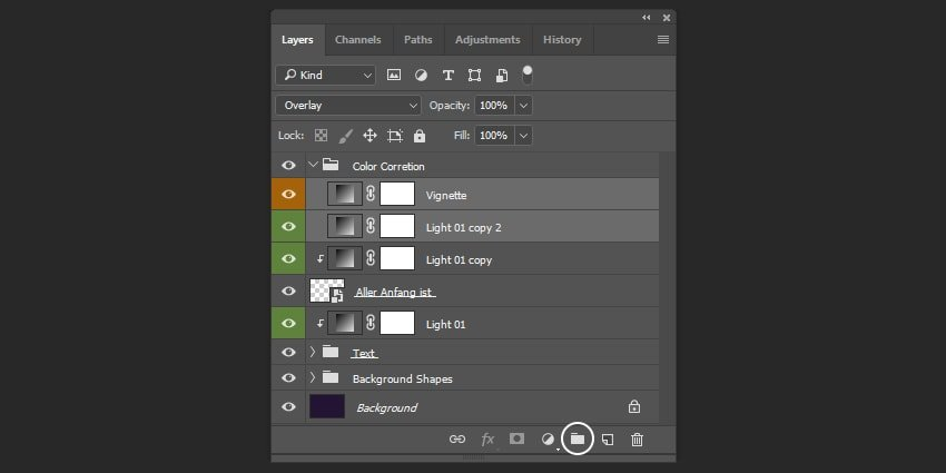 Creating a group of layers
