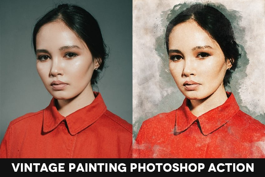 Vintage Painting Effect Action