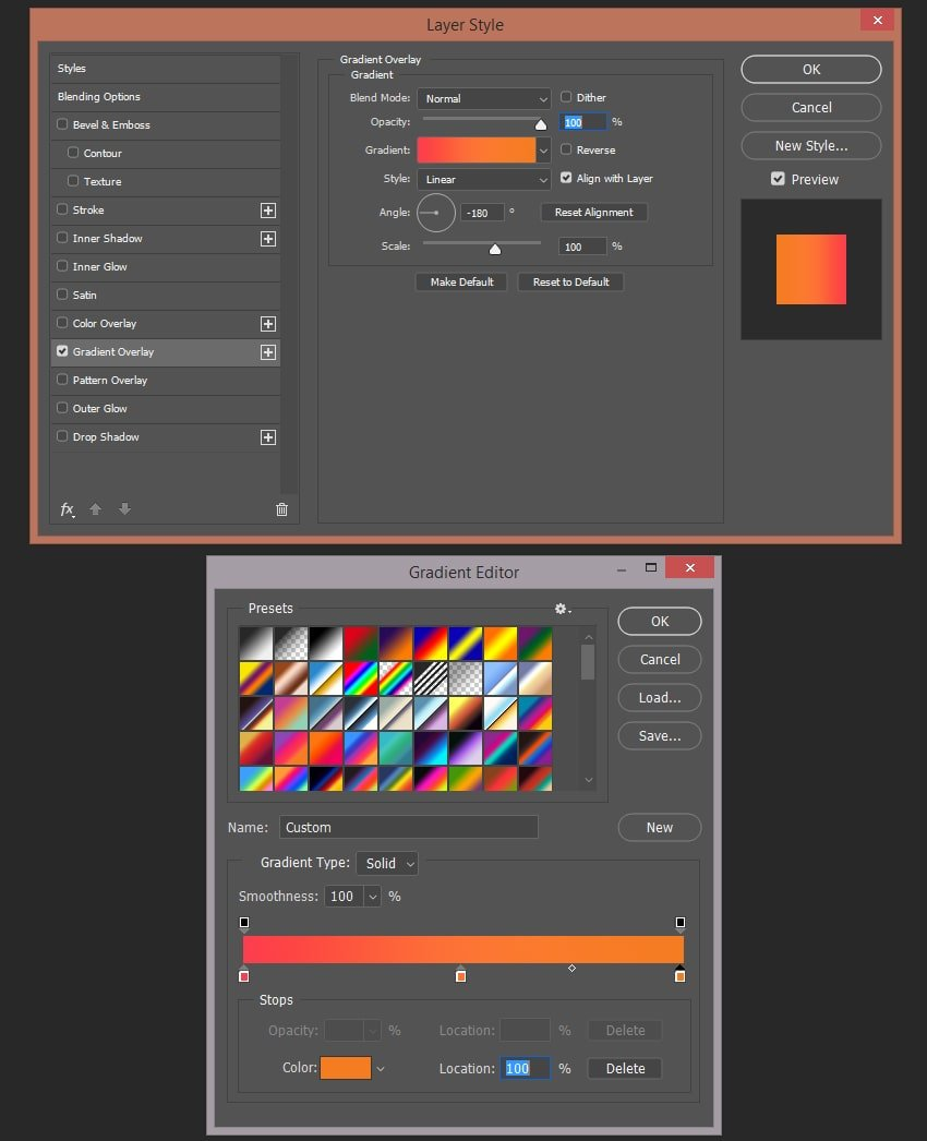 Setting up the gradient