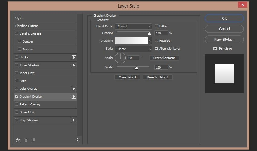 Creating a gradient overlay