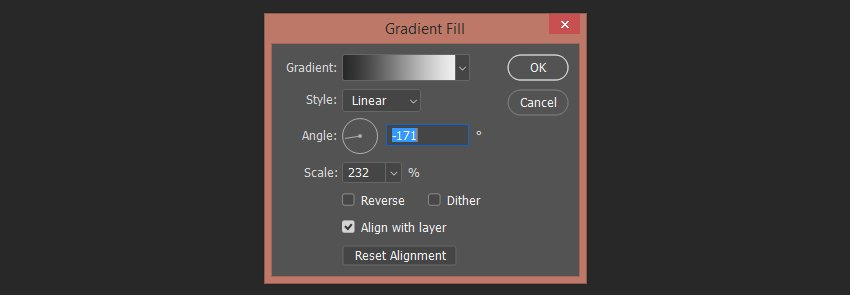 setting up the second gradient fill