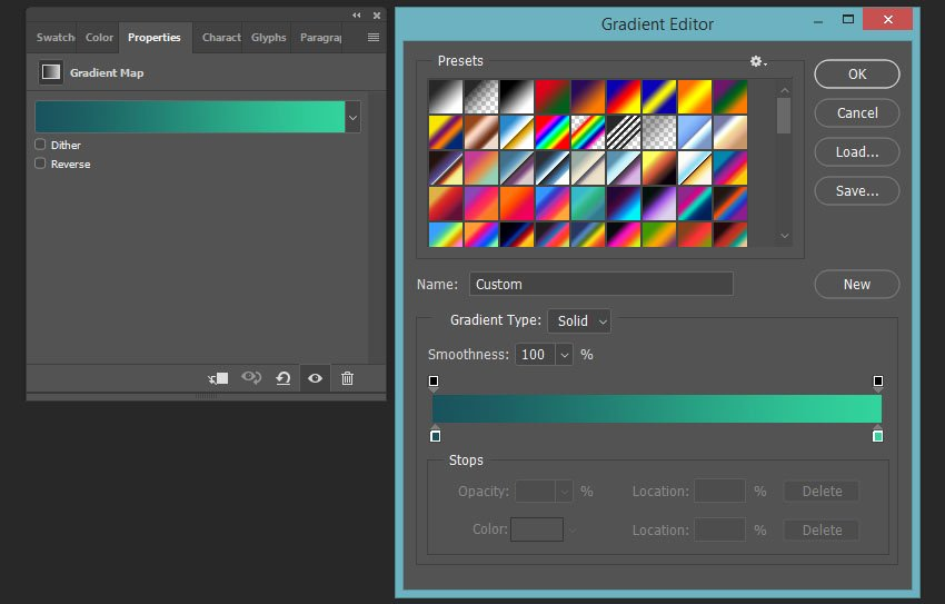 creating a gradient map overlay