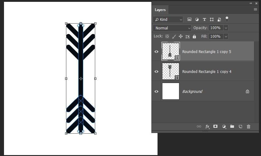 creating a duplicate of the main snoflake shape