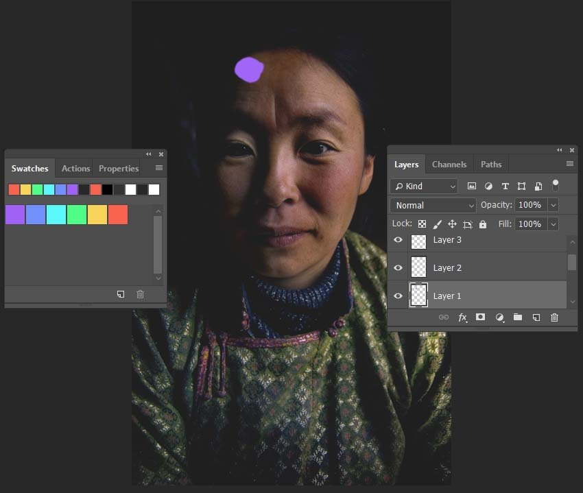 creating the first lens flare color element