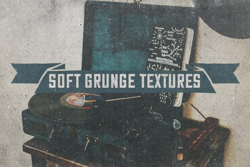 10 soft grunge gray textures