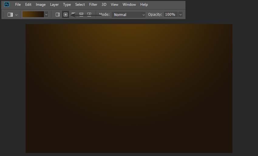 creating a gradient background in Photoshop