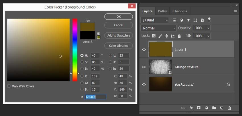 creating and filling a new layer