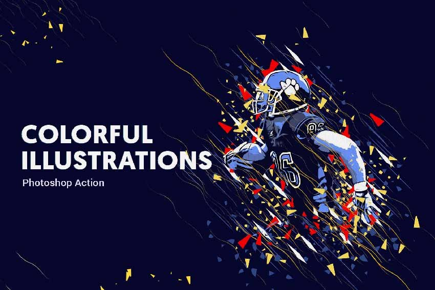 Colorful Illustrations Photoshop Action