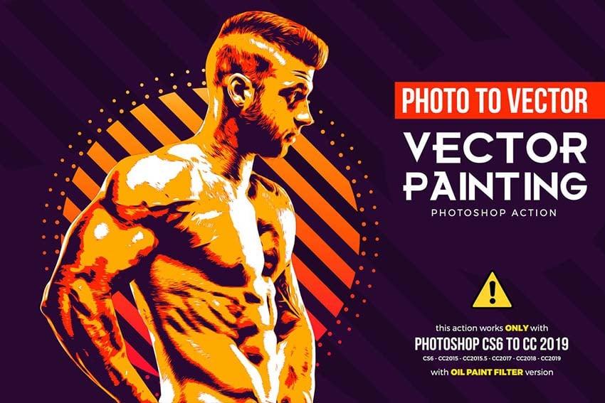 Vector Painting CS6  CC Photoshop Action