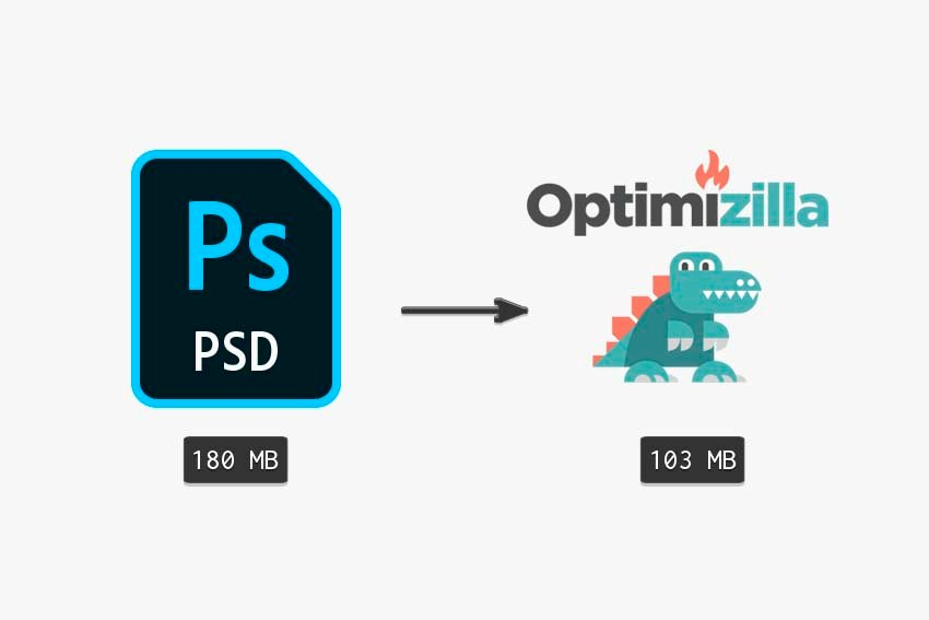 compare original PSD to PSD with compressed textures and images