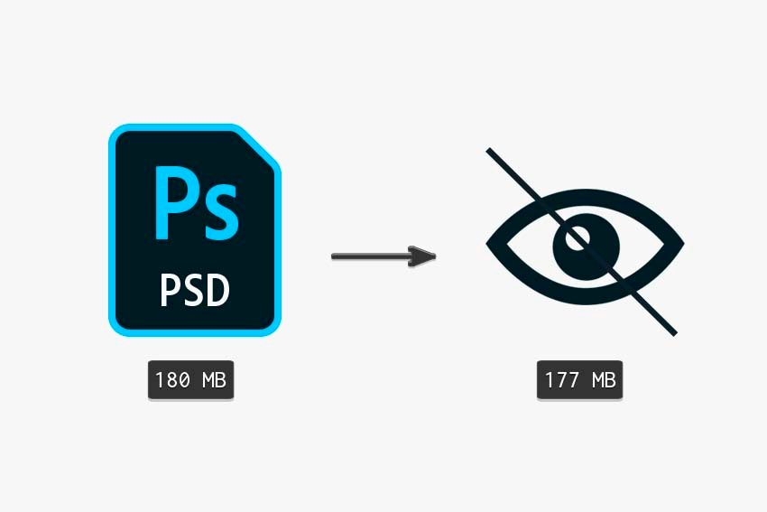 comparing the original file size to invisible size method