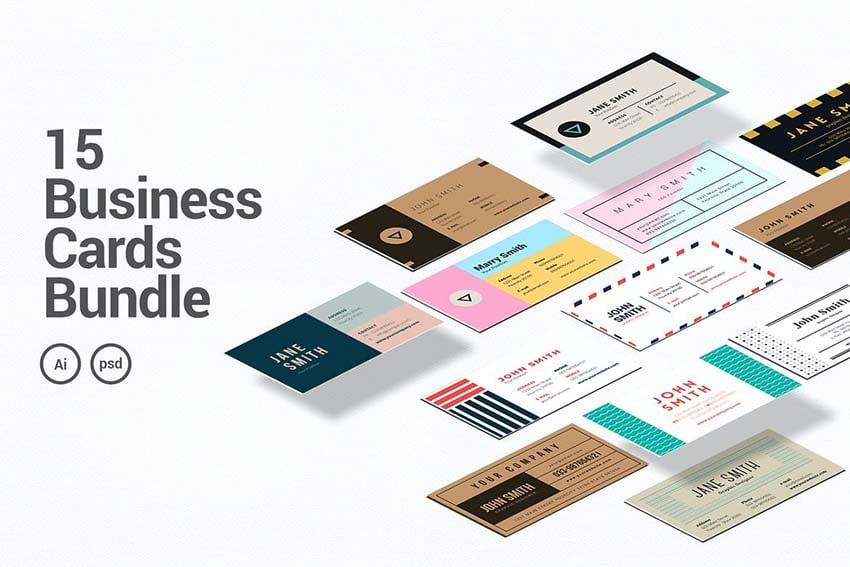 15 Business Card Photoshop Templates Bundle