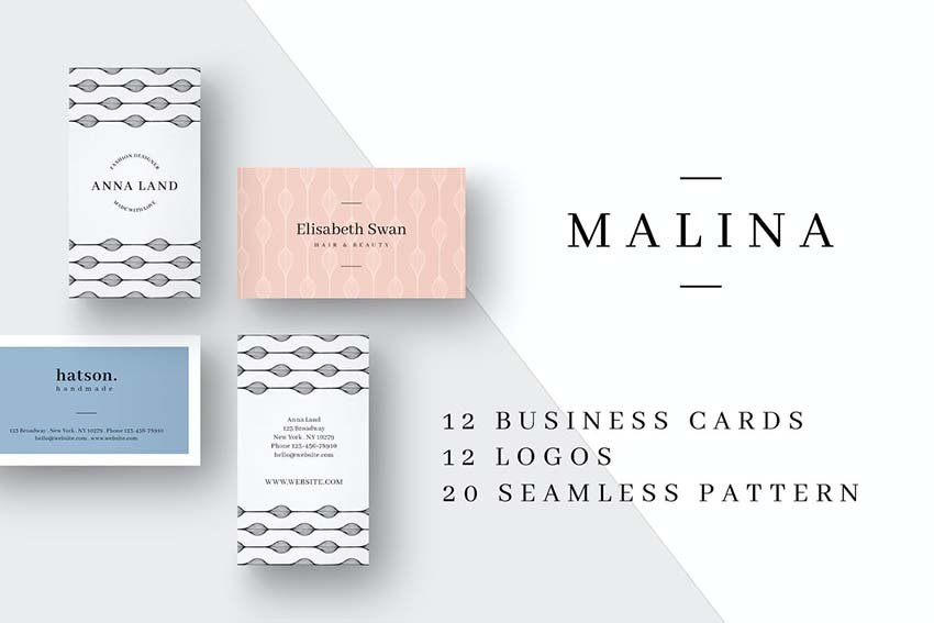 Malina Business Cards Photoshop Templates and  Logos