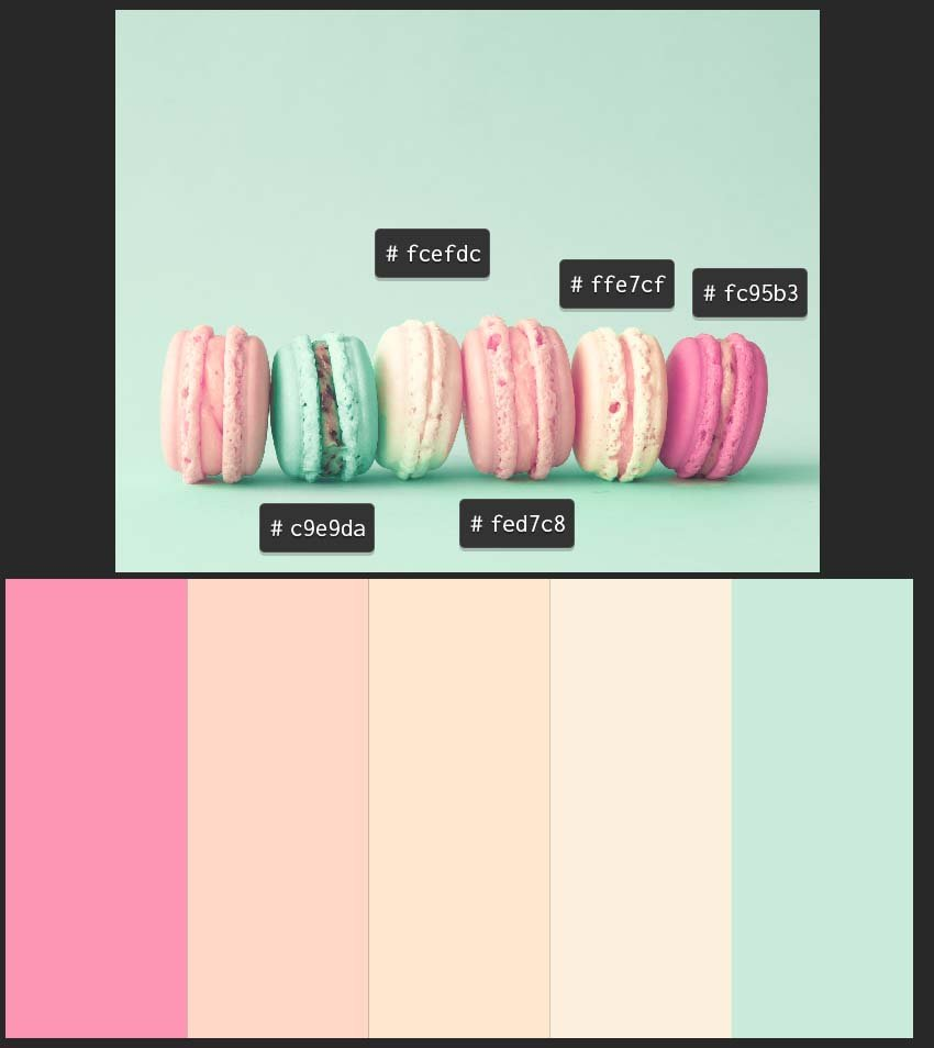 second example of color palette created with color picker