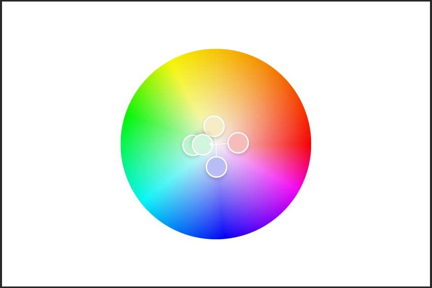 selecting the pastel colors in the color wheel