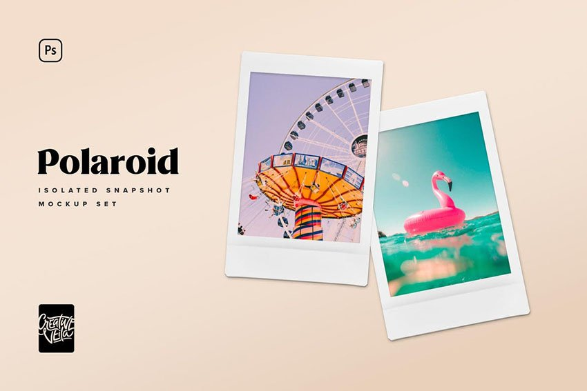 Polaroid Snapshot Picture Mockup Templates