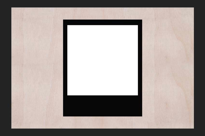Polaroid Picture Template Tutorial moving the second shape