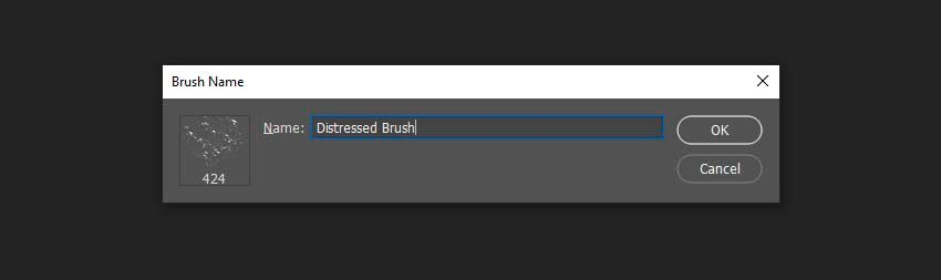 creating a new distressed brush