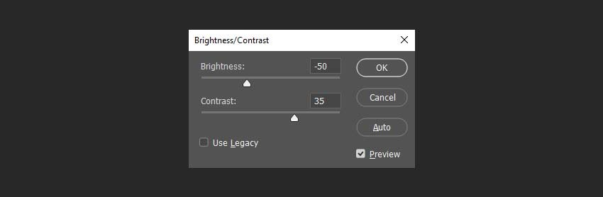 changing the brightess and contrast