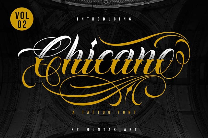 chicano lettering tattoo font