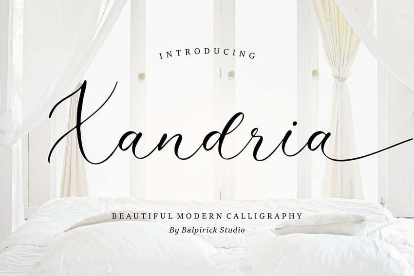 xandria tattoo script font