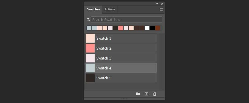 Creating a color palette for instagram template